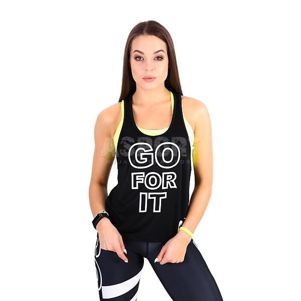 7273acbec5cd2d Koszulka damska, top, bokserka GO FOR IT 2skin - Kolor czarno-biały