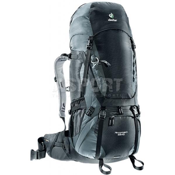 56f81443a5bae Plecak trekkingowy, wyprawowy AIRCONTACT 55 + 10L Deuter - Kolor czarny