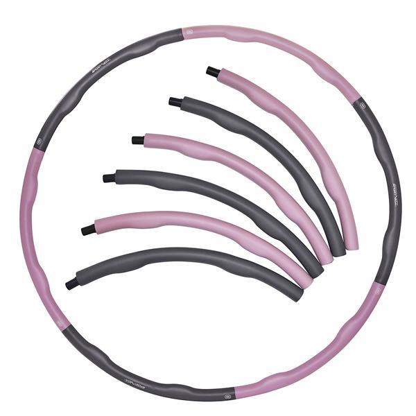 Hula-Hop, składany, masujące wypustki ok. 100 cm szaro-różowe